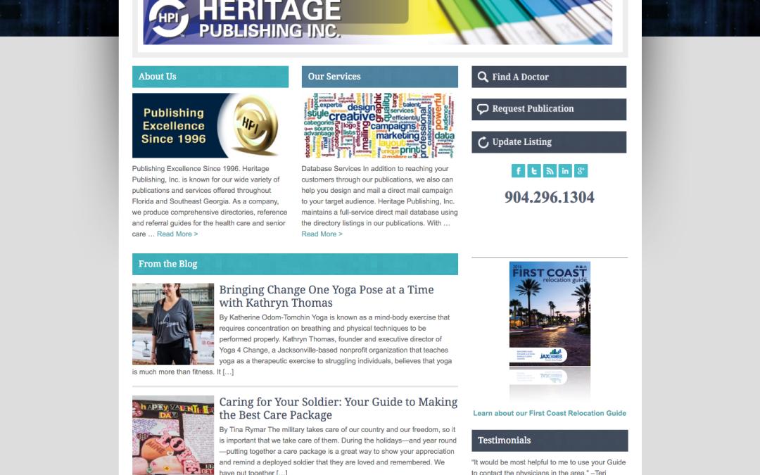 Heritage Publishing, Inc. – Web Design