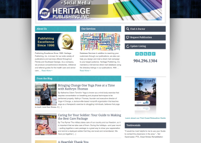 Heritage Publishing, Inc. – Web Design