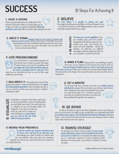 Success - Twelve Steps for Achieving It