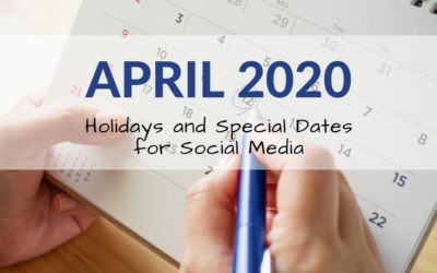 April 2020 Holiday and Special Days