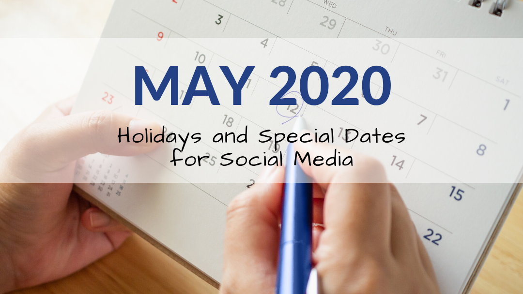 May 2020 Holiday and Special Days