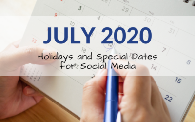 July 2020 Holiday and Special Days