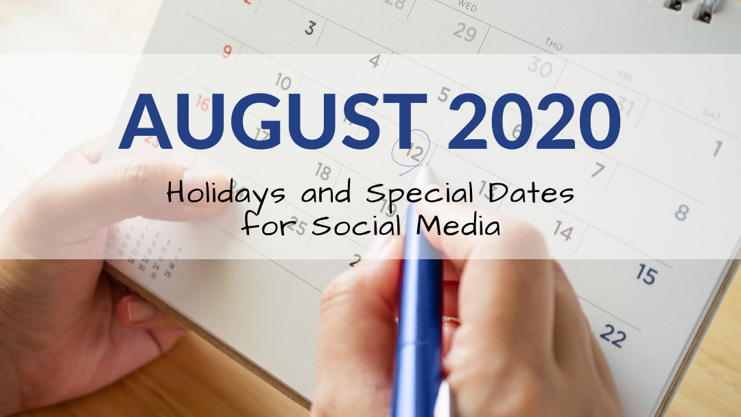 August 2020 Holiday and Special Days