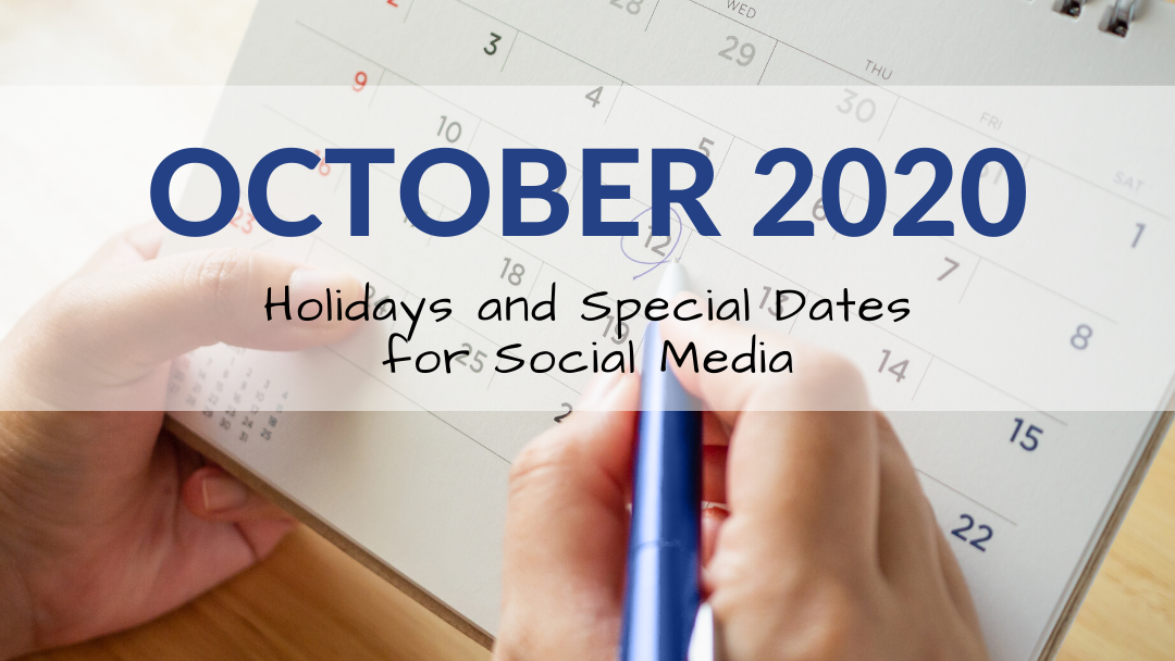 October 2020 Holiday and Special Days