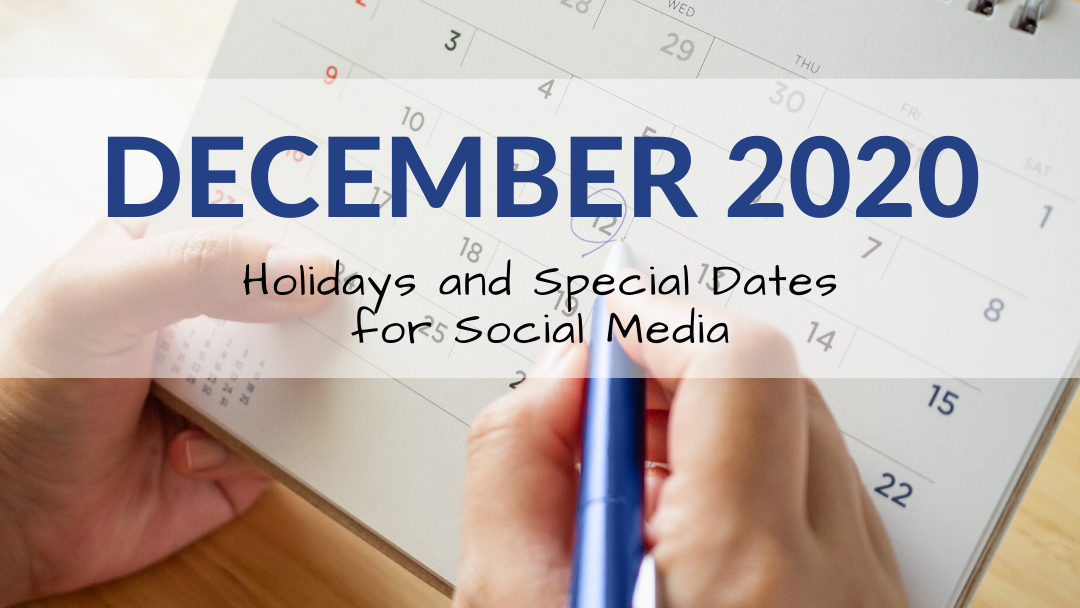 December 2020 Holiday and Special Days