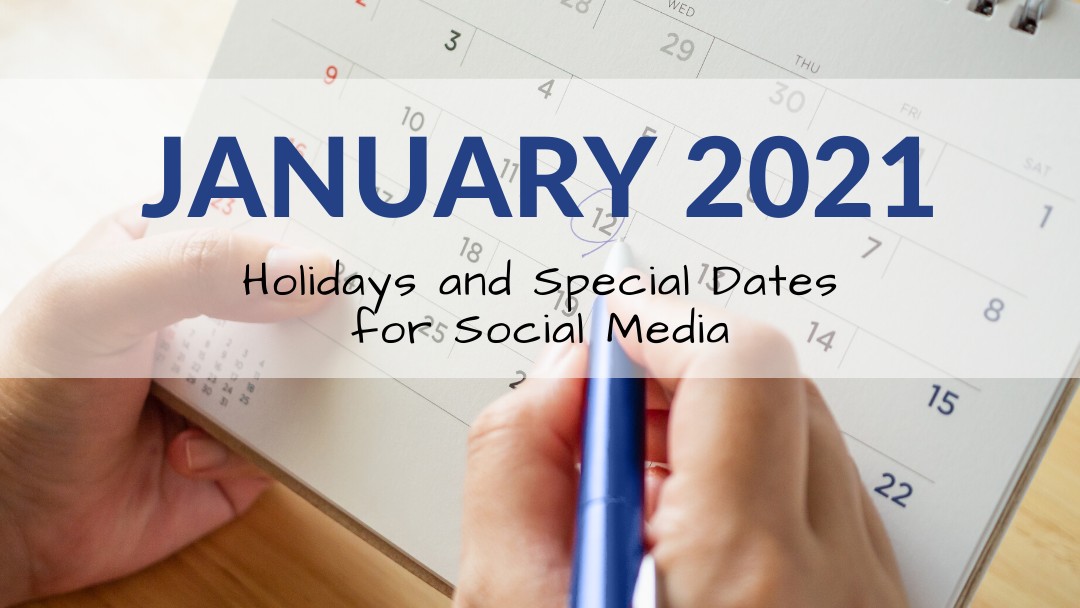 January 2021 Holiday and Special Days