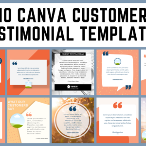 10 Canva Testimonial Templates