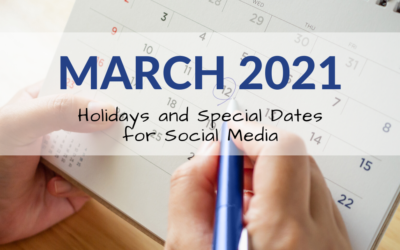 March 2021 Holiday and Special Days