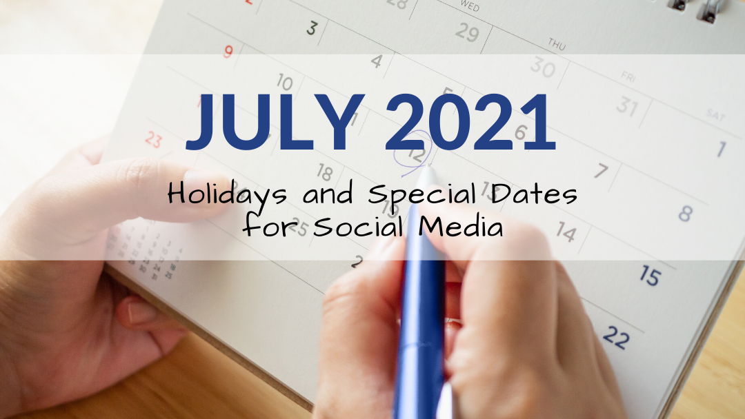 July 2021 Holiday and Special Days