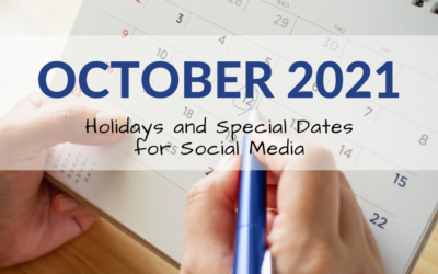 October 2021 Holiday and Special Days