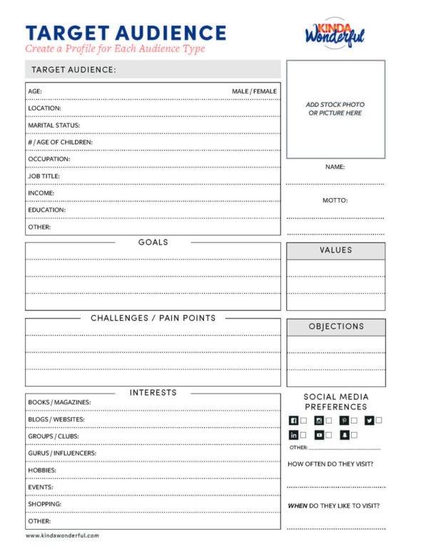 Target Audience Worksheet